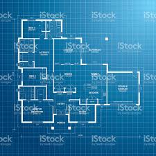 Floor Plan Blueprint House Plan Blueprint Stock Vector Art 165639171 Istock