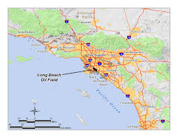 Map Of Los Angeles Beach Cities by Long Beach Oil Field Wikipedia