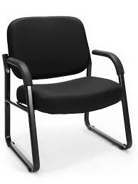 Reception Chair 407 805 Ofm Bariatric Big And Black Fabric Guest Reception