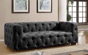 black velvet chesterfield sofa luxurious modern dark grey tufted sofa sofa mania black blue