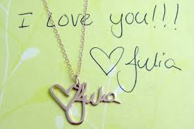 custom handwriting necklace custom handwriting necklaces written mementos you can wear ohgizmo