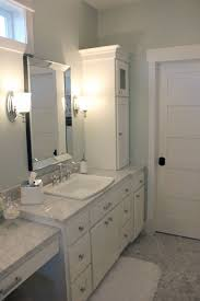 All White Bathroom Custom Designed Cabinet And Countertop For The Bathroom