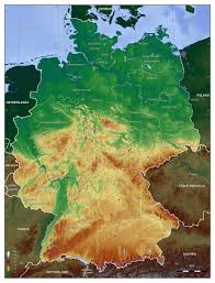 geographical map of germany large detailed physical map of germany germany europe