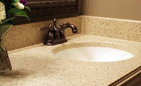Solid Surface Bathroom Vanity Tops Get The Thickness Of Granite And Quartz Vanity Tops With Regard To