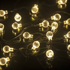 Led Outdoor Patio String Lights M T Tech 20 Led Lights Solar String Lights For
