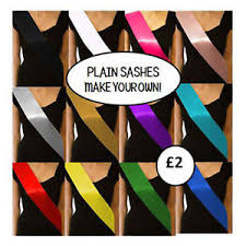 blank sashes cheap basic plain blank hen party sashes satin ribbon 100mm 10cm