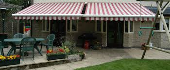 Striped Awning Sovereign Awnings Plain And Striped Garden Awnings And Branded