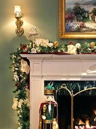 garland fireplace mantel home decor decorating ideas