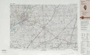 Map Of Peoria Illinois by Peoria Topographic Maps Il Usgs Topo Quad 40088a1 At 1 250 000
