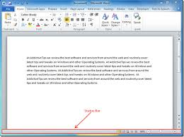 Vba Word Count Pages In Document Word Count Line Number Page Number In Status Bar Word 2010