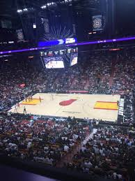 american airlines arena section 323 row 1 seat 5 miami heat