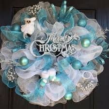white deco mesh white christmas wreath christmas deco from shellyschicdesigns on