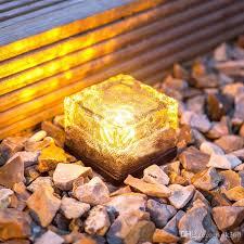 solar garden path lights solar brick ice cube path lights crystal garden l led underground