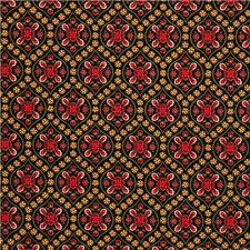black designer fabric with gold flower ornaments ornament