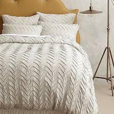 textured duvet covers queen organic cotton pintuck duvet cover