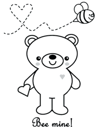 cute valentine coloring pictures printable pages valentines day