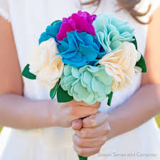 diy bouquet diy felt flower bouquet tutorial accuquilt accuquilt