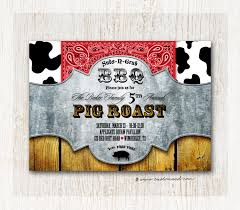 Reunion Invitation Cards Pig Roast Invitation Bbq Invitations Bbq Invites Family