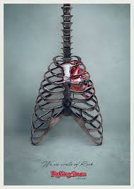 we are made of rock a metallic guitar ribcage created for the