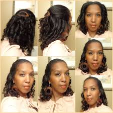 flexi rod curls pulled back with a goody ouchless flexi barrettes