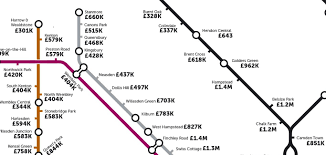 Property Line Map The London Underground Property Price Tube Map The London Economic