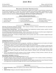Resume Sample Business Administration by Professionally Written Resume Samples Rwd