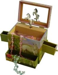 Childrens Music Boxes Fairy Horse Musical Jewellery Box Childrens Music Boxes Girls