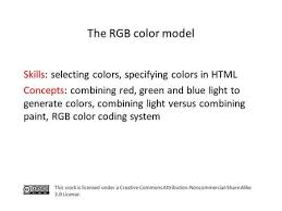rgb color model skills none it concepts combining red green and