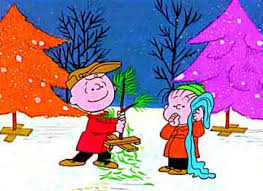 Charlie Brown saved a Christmas Tree= Maggie has to save the discount Halloween candy!