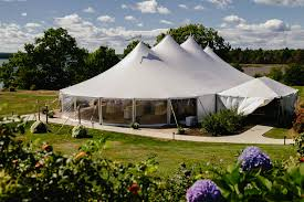 wedding venues in maine our nautical sailcloth tent s point coastal maine