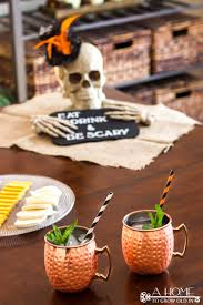 easy halloween party decoration skull centerpiece a home to