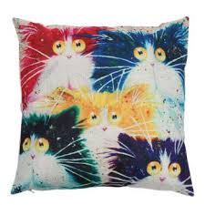 Factory Direct Home Decor Cheap Pillow Cushion Cover Buy by 45 45cm Square Cushion Covers Decorative Pillow Case Cartoon Cats