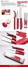 victorinox kitchen knives victorinox swiss kitchen paring knife with peeler 3pcs set red