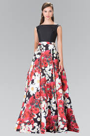 floral dresses floral print dress with black top by elizabeth k gl2266