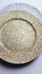 gold or silver glitter charger plates chargers glittered