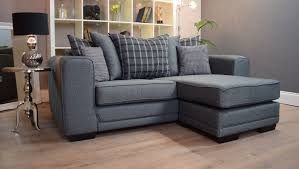 Scs Laminate Flooring Angus 3 Seater Chaise Sofa Grey Plum Scatterback Out Of Stock