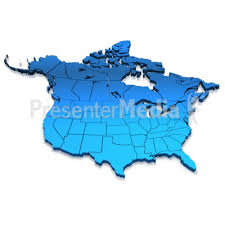 map us canada america blue map presentation clipart great clipart for