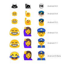 new android emojis finally replaces gumdrop blob emojis with circular ones in