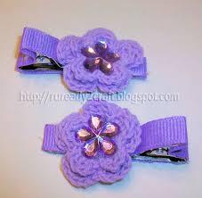 crochet hair bows ruready 2 craft crochet flower hair clip bows