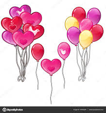 balloons bouquets balloons bouquets classic shapes and a heart stock vector