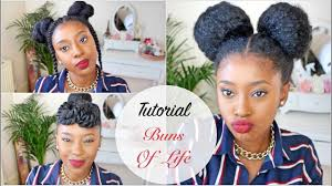 natural hair after five styles tutorial three 10 minute natural hair styles buns of life