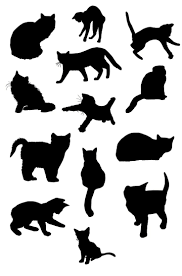 halloween window cutouts 163 best 1s cat silhouettes images on pinterest cats drawings