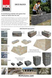 Garden Wall Retaining Blocks by 18 Best Roxstone Deco Block Retaining Wall Option Images On