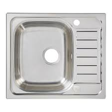 Cooke  Lewis Sagan  Bowl Polished Stainless Steel Compact Sink - Compact kitchen sinks stainless steel