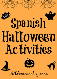 spanish halloween activities all done monkey
