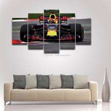 Large Artwork For Wall by 2017 5 Panel Printed Formula Race Car Picture Large Canvas Art For