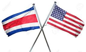 Costarican Flag Costa Rica Flag Combined With American Flag Stock Photo Picture