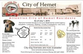 hemet ca official website animal control