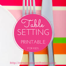 free table setting placemat printables
