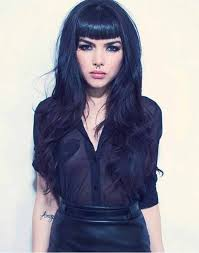 pin up hairdos long black hair black long hairstyle with short bangs hair pinterest short